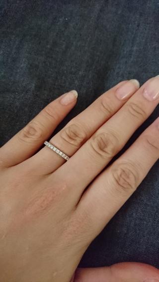 【ラザール ダイヤモンド(LAZARE DIAMOND)の口コミ】 婚約指輪は夫に選んで欲しかったので、「私のイメージで!あと、結婚指輪と…