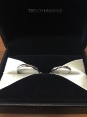 【エクセルコダイヤモンド(EXELCO DIAMOND)の口コミ】 ミル打のリングを探しており、何軒か見ましたが、1番気に入りましたので購…