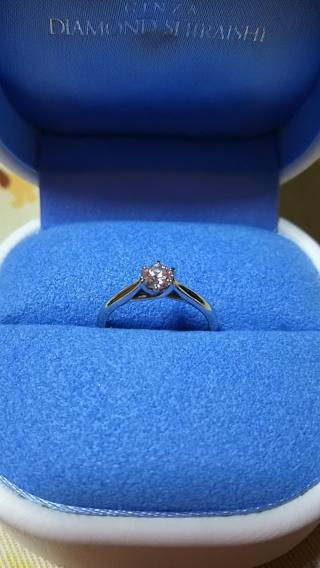 【銀座ダイヤモンドシライシの口コミ】 イロイロなデザインのリングがあって、最初はどんなデザインのリングにする…