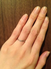 【ケイウノ ブライダル(K.UNO BRIDAL)の口コミ】 婚約指輪と同じケイ・ウノにて、オーダーメイドで作っていただきました。 …