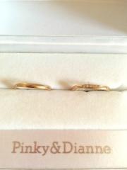 【Pinky&Dianne(ピンキー&ダイアン)の口コミ】 私はセラピスト。彼は工場勤務のため、なかなか普段から結婚指輪をつけるこ…