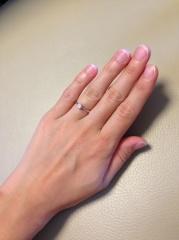 【ラザール ダイヤモンド(LAZARE DIAMOND)の口コミ】 私の手は子どものように小さく指も長くないので指輪が似合わないことがコン…