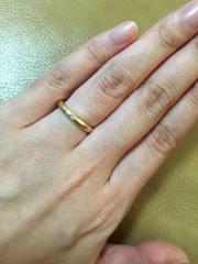 【ティファニー(Tiffany & Co.)の口コミ】 結婚指輪は憧れのティファニーで、と婚約の段階から決めていました。お揃…