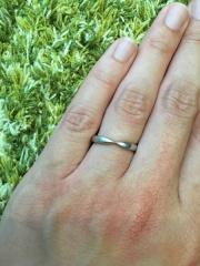 【ティファニー(Tiffany & Co.)の口コミ】 結婚指輪はティファニーがいいと最初から決めていました。シンプルでつけ…