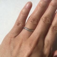 【ティファニー(Tiffany & Co.)の口コミ】 プラチナでダイヤモンドが付いているものというふわっとしたイメージで探し…