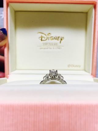 【ケイウノ ブライダル(K.UNO BRIDAL)の口コミ】 シンデレラが大好きな私。結婚が決まる前から婚約指輪は絶対これにする!っ…