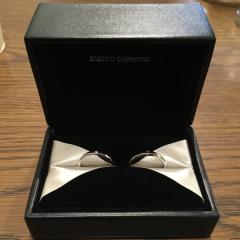 【エクセルコダイヤモンド(EXELCO DIAMOND)の口コミ】 指輪を決める前までは、私が気にいるデザインで良いよと言ってくれていまし…