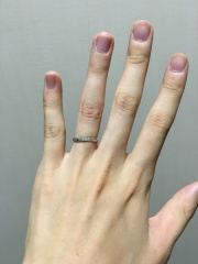 【アイプリモ(I-PRIMO)の口コミ】 初めは細いラインの指輪が気に入っていたのですが、店員さんから歳を重ねる…