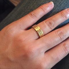【カルティエ(Cartier)の口コミ】 適度なボリューム感があって、手が大きてふっくらめの私の指に合っている…