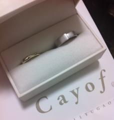 【Cayof(カヨフ)の口コミ】 要望を伝えて指輪のイメージをデッサンして貰ったのですが、その時点で即決…