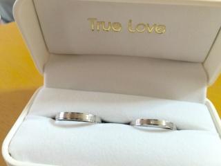 【True Love(トゥルーラブ)の口コミ】 子供を授かってからの結婚だったことと主人が仕事柄普段は指輪をつけれな…