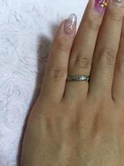 【ケイウノ ブライダル(K.UNO BRIDAL)の口コミ】 オーダーメイドでオリジナルの結婚指輪が作れたところ 細かく1から、夫婦…