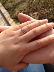 【cococaru(ココカル)の口コミ】 シンプルイズザベストのコンセプトで旦那が選びました。指輪のイメージが…