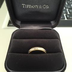 【ティファニー(Tiffany & Co.)の口コミ】 プラチナとゴールドどちらもつかった珍しいデザインで、ミル打ちが好きだ…