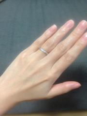 【アイジュエリー ウマキ(EYE JEWELRY UMAKI)の口コミ】 結婚指輪は絶対ダイヤモンドがついているものがよく、かつつけっぱなしにし…