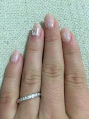 【4℃(ヨンドシー)の口コミ】 彼が選んでくれました。指が太くて短いのが昔から悩みで、指輪をすることに…