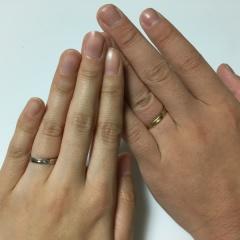 【JEWELRY  KAMATA(ジュエリーかまた)の口コミ】 オリジナルティに溢れた指輪が欲しくて、光沢加工を4面に施してラインで区…