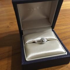 【agete(アガット)の口コミ】 指が太いのがコンプレックスで婚約指輪自体購入する予定はありませんでし…