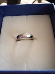 【festaria bijou SOPHIA(フェスタリア ビジュソフィア)の口コミ】 女性用にはダイアモンドがあしらわれていて、かわいいらしく指を綺麗に見…