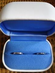 【銀座ダイヤモンドシライシの口コミ】 一生はめる指輪なので、つけてて気にならない指輪にしたかったということを…