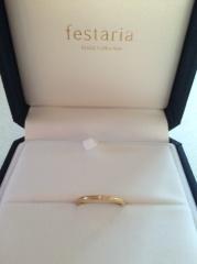 【festaria bijou SOPHIA(フェスタリア ビジュソフィア)の口コミ】 さりげないダイヤの入れた方、ピンクゴールドというのに惹かれました。指が…