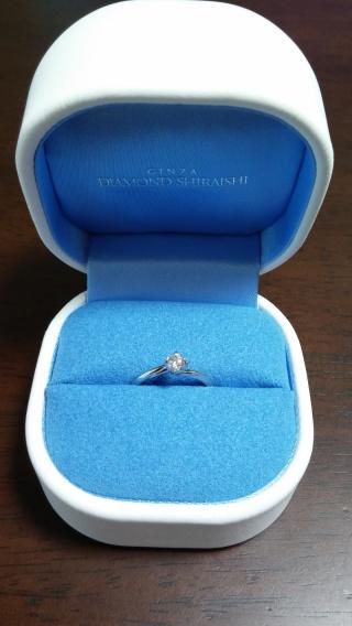 【銀座ダイヤモンドシライシの口コミ】 まずはダイヤモンドの輝きがすごくキラキラで、とっても素敵だったことです…