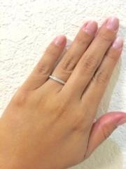 【カルティエ(Cartier)の口コミ】 プラチナバンドの幅が太すぎず細すぎず安定感があるので指が華奢じゃない方…