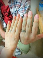【俄(にわか)の口コミ】 僕は元々仕事でつけないので彼女の選んだ指輪のペアか、同じブランドの安…