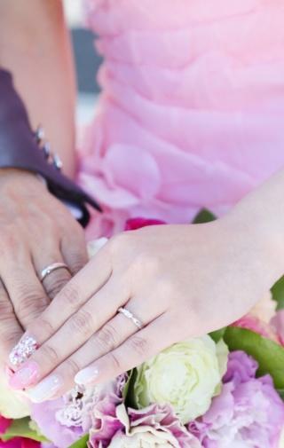 【エクセルコダイヤモンド(EXELCO DIAMOND)の口コミ】 旦那は黒のダイヤが1つついているシンプルな指輪、私はキラキラした指輪で…