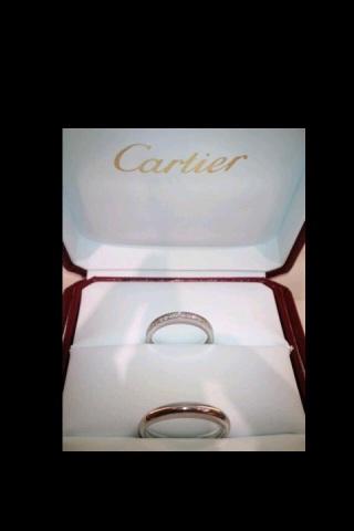 【カルティエ(Cartier)の口コミ】 キラキラしているのが良かったです。 一周、キラキラしているほうが、半周…