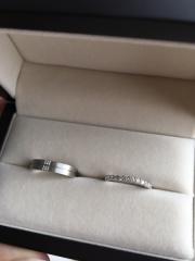 【JEWELRY  KAMATA(ジュエリーかまた)の口コミ】 新婦の指輪はハーフエタニティで探していたので、色々なお店へ行って比較し…