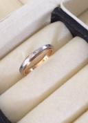 【セリエルーチェの口コミ】 もともとピンクゴールドで探していたので、この指輪に出会った瞬間からと…