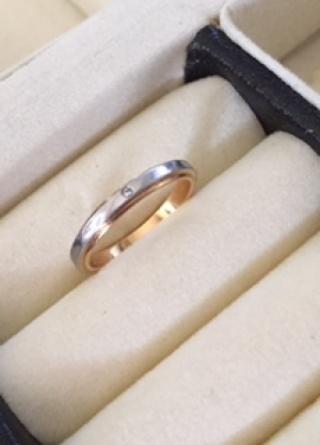 【Petit Marie(プチマリエ)の口コミ】 もともとピンクゴールドで探していたので、この指輪に出会った瞬間からとき…