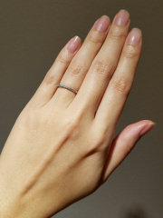 【Ponte Vecchio(ポンテヴェキオ)の口コミ】 最初、婚約指輪だけで、結婚指輪はいらないと思っていたんです。ズボラな…