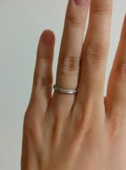 【PORTADA(ポルターダ)の口コミ】 色んなブランドの指輪を見て回りましたが、この指輪をホームページで見て、…