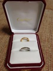 【カルティエ(Cartier)の口コミ】 ピンクゴールドにダイヤがキラキラしているのが気に入り、購入決定しました…