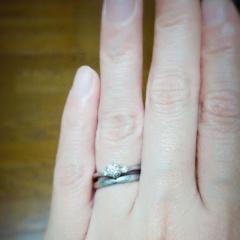 【銀座ダイヤモンドシライシの口コミ】 旦那様が先に婚約指輪を購入するためサプライズで通って選んでくれたので、…