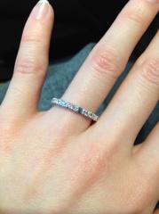 【エクセルコダイヤモンド(EXELCO DIAMOND)の口コミ】 人とは違ったエメラルドカットのダイヤのデザインを探していたので、イメー…