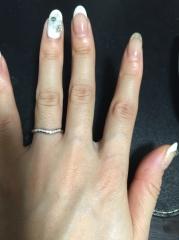 【ティファニー(Tiffany & Co.)の口コミ】 婚約指輪はなかったのでダイヤモンドが入っているものがよかったです。女…