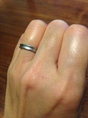 【1/f エフブンノイチの口コミ】 ストレートのラインで一部つや消しの仕上げの指輪を希望していたが リング…
