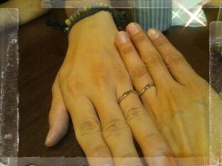 【ケイウノ ブライダル(K.UNO BRIDAL)の口コミ】 指がゴツゴツしてしっかりした手なのでなるべく手が華奢に見えるように、ま…