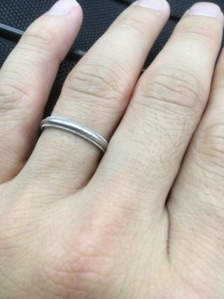 【ティファニー(Tiffany & Co.)の口コミ】 婚約指輪もティファニーで購入したため、必然的に結婚指輪もティファニーを…