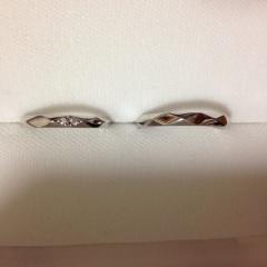 【MJC(三菱ジュエリーコレクション)の口コミ】 お互い好みのタイプが違った為悩んでいたところ、彼が一目惚れした指輪が他…