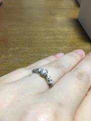 【JEWELRY  KAMATA(ジュエリーかまた)の口コミ】 デザインがよく、 ダイヤの輝きを自分たちの予算できめることができること…