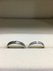 【JEWELRY  KAMATA(ジュエリーかまた)の口コミ】 女性のリングは、婚約指輪と重ねづけした時の相性の良さ、輝きの相乗効果…
