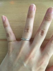 【俄(にわか)の口コミ】 リングの細さ、ダイヤの入り具合が絶妙でした。 また、リングの名前やそこ…