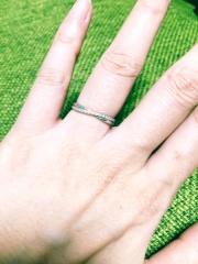【ヴァンドーム青山(Vendome Aoyama)の口コミ】 主人も私も指が太いので、指がほっそりきれいに見えるデザインを一番重視…