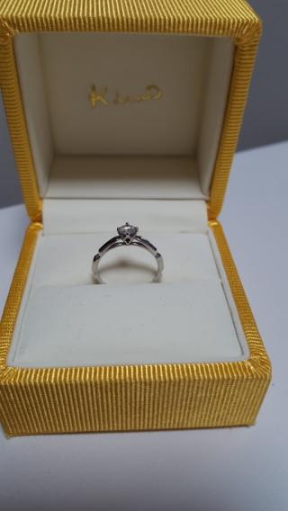 【ケイウノ ブライダル(K.UNO BRIDAL)の口コミ】 主人の母親からダイヤの指輪をいただき、当初はサイズ変更だけをする予定…