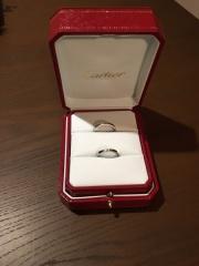【カルティエ(Cartier)の口コミ】 婚約指輪がバレリーナだったので、カルティエ以外は考えなかった。 ストレ…