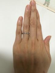 【カルティエ(Cartier)の口コミ】 結婚指輪を探し始めた当初から、カルティエの指輪が希望ではありましたが…